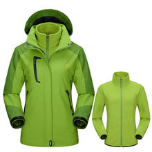 NaranjaSabor 2019 Winter Womens 2 Pieces Casual Jackets Waterproof Windproof Thermal Female Coats Removable Women Brand Clothing(China)