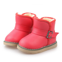 Suitable For the Russian Winter Warm Brown Yellow Red Leather Children Boots Boy Girl  Boots Baby KIDS Shoes Insoles 13-18cm(China (Mainland))