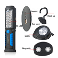 USB Charging 36 5 LED Flashlight Work light Magnetic Lamp with HOOK for Mobile Power Charger