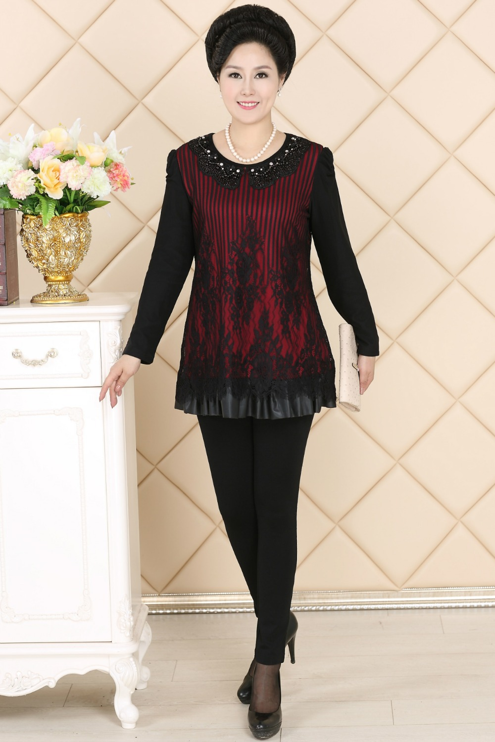 new middle age old women mother grandma clothing long