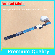 5 pcs/lot For iPad mini 1 White Headphone Audio Earphone Jack Flex Cable Repair Part Replacement Free Shipping