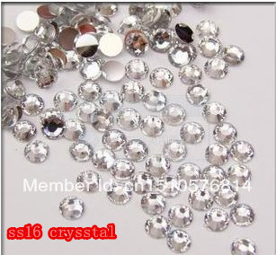 SS16 10000pcs/pack Flat back Acrylic Rhinestones Crystal Color Nail Art - Rhinestone houses store