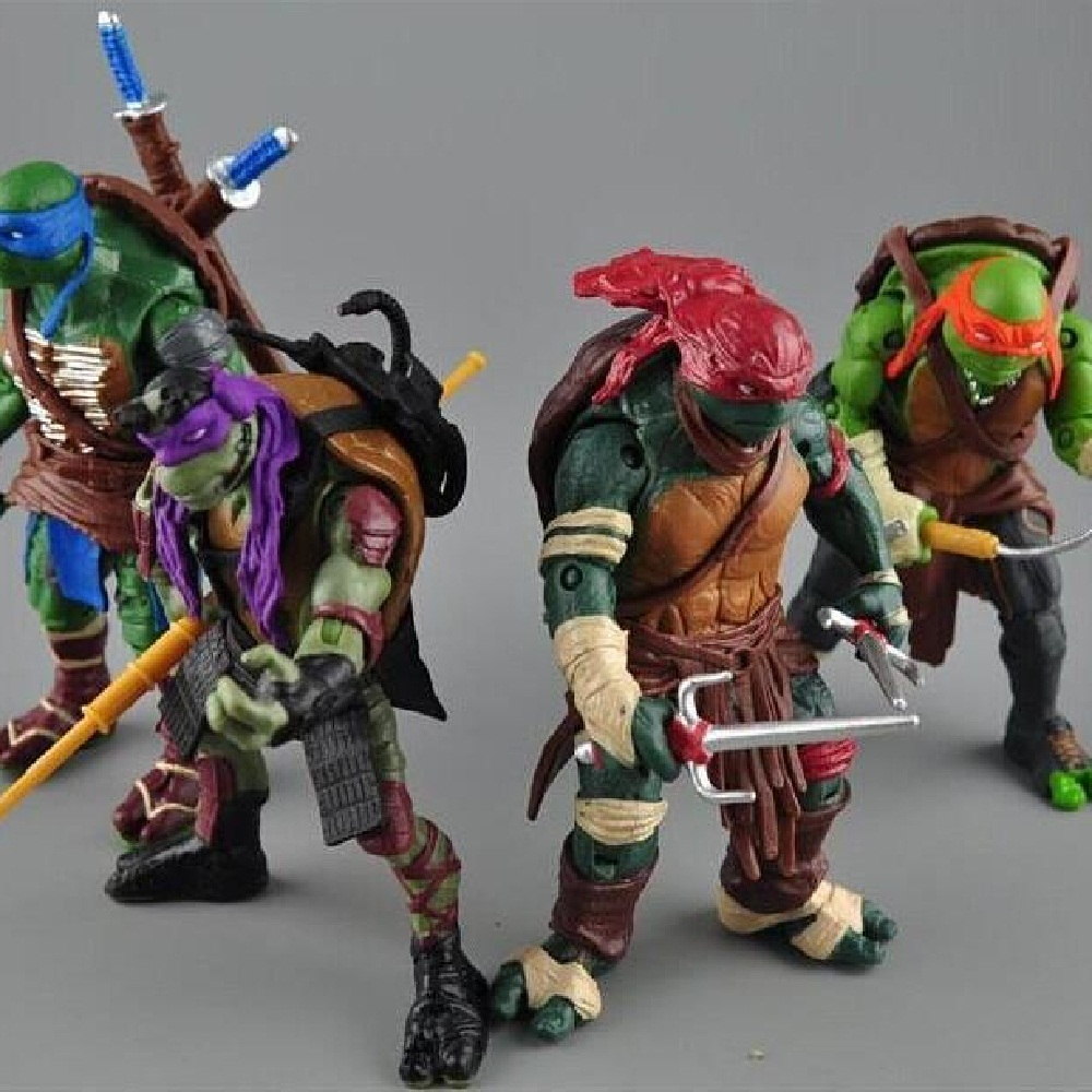 2016 New NECA Toy 4 pieces/lot Teenage Mutant Ninja Turtles PVC Action Figure TMNT Model Brinquedos Christmas Gift<br><br>Aliexpress