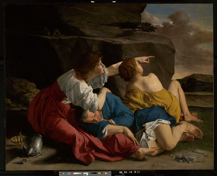 Canvas Art Prints Stretched Framed Giclee World Famous Artist Oil Painting Orazio Gentileschi <font><b>Italian</b></font> Lot His Daughters