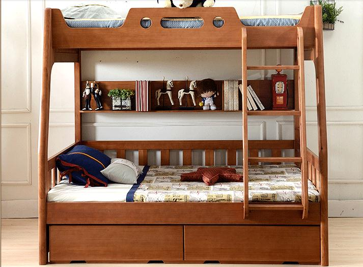 All solid wood bed cluster of american children 39 s double for American children s bedroom furniture