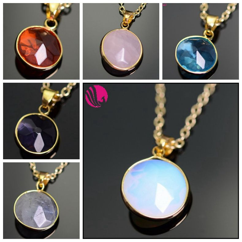 Women's Boho Sapphire Crystal Amethyst Druzy Quartz Colares 18K Gold Plated Natural Stone Pendant Necklaces Jewelry For Wedding(China (Mainland))