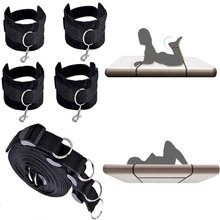 Buy SM Sex Bed Bondage Restraint Kit Hand Cuffs Ankle Cuff Bondage Collection Sex Toys Couples for $19.79 in AliExpress store