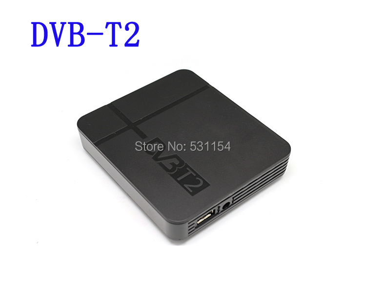 Free shipping HD DVB-T2 terrestrial digital television receiver Compatible with DVB T2 HDMI+USB+PVR for Russia/Columbia()