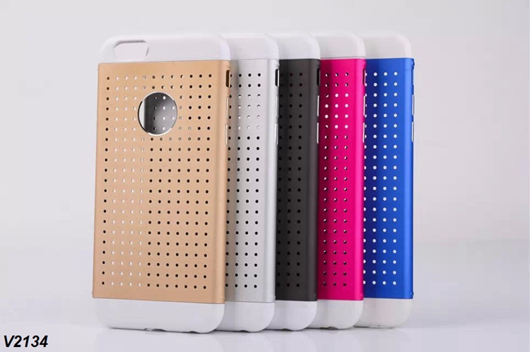 1 PCS Free Shipping Metal Case For iPhone 6 Plus Mesh Case Hard Aluminum Cover + Screen Protector(China (Mainland))