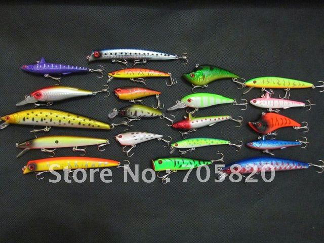20pcs/lot,Assorted fishing lures,Minnow,VIBRATION,Pencil,Popper fishing hard bait.freeshipping by china post