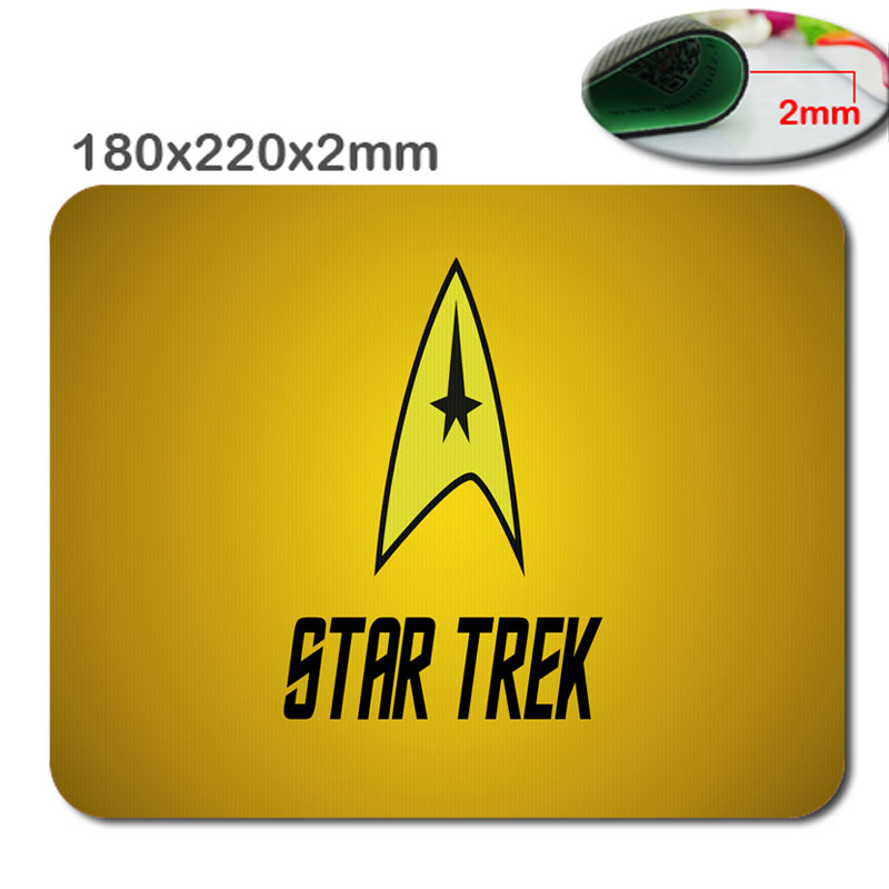 custom fast Star Trek Logo Cool Fantasy speed printing antiskid durable high quality quick game mouse pad for home and office(China (Mainland))