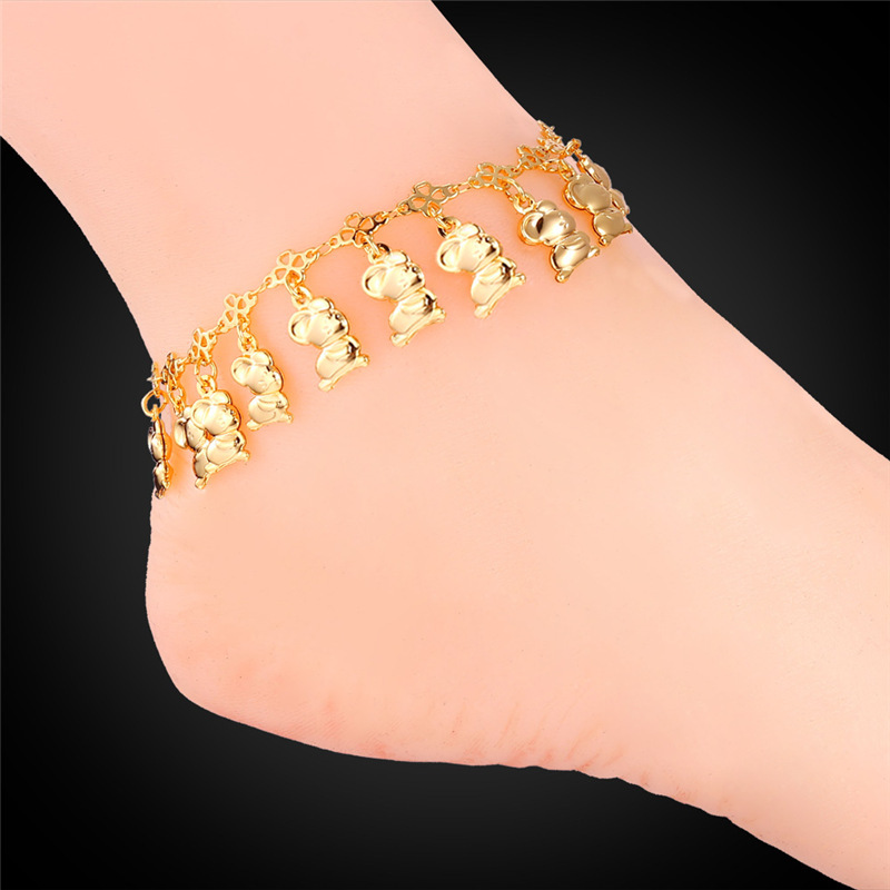 Gold Mouse Anklet Cute Cartoon Foot Jewelry For Women Leg Platinum/18K Real Gold Plated Wholesale Trendy New Legs Bracelets A205(China (Mainland))