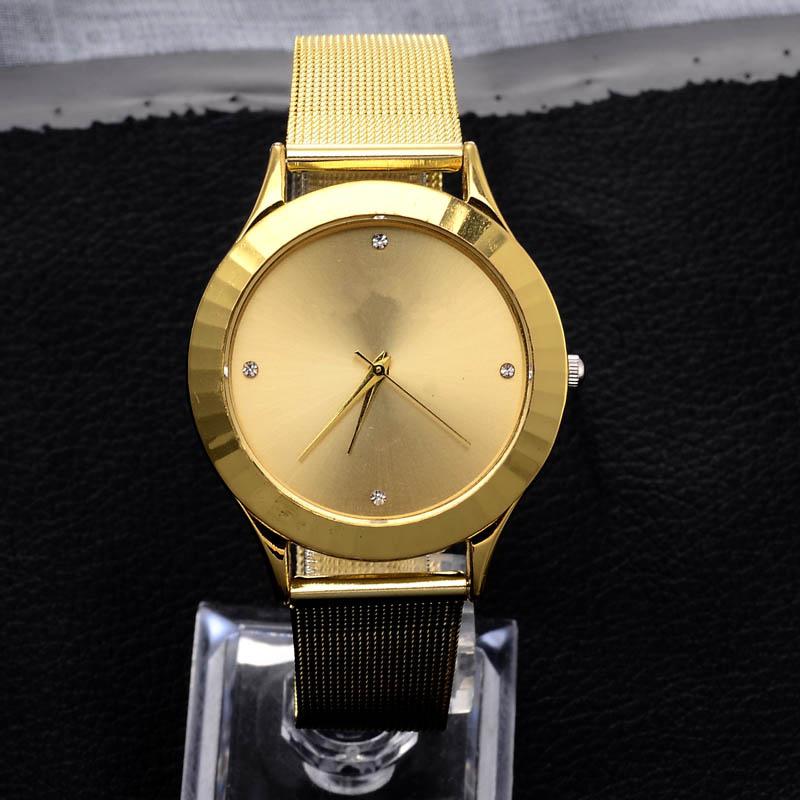 Relojes Mujer 2015 New Fashion Classic Women Dress Watch Stainless Steel Wrist Watch Ladies Quartz Watches Female Colck(China (Mainland))