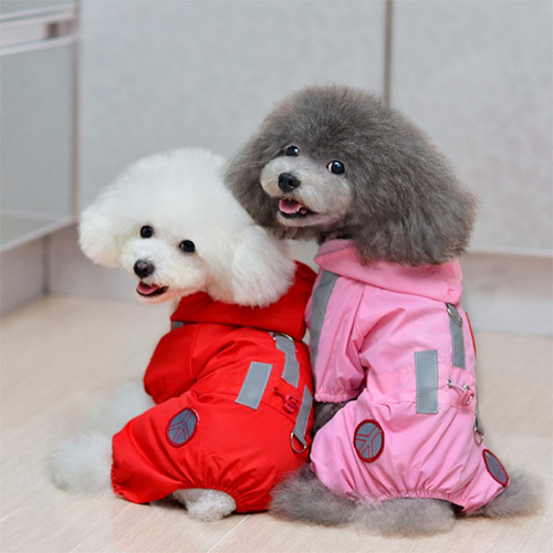 Waterproof Coat Jackets for Dogs red pink 2 Colors Dog Rain hoodie clothes pet clothing dog clothes coat cute pet raincoat(China (Mainland))