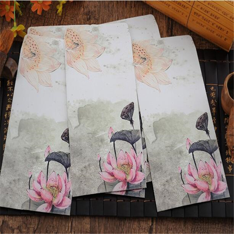 11 style 2PCS Chinese painting design artificial parchment envelope (postcard size) Free shipping(China (Mainland))