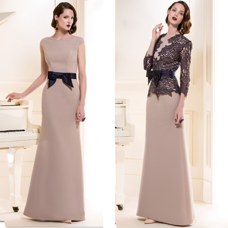 Custom made wedding party dresses with black lace jacket for Black lace jacket for wedding dress