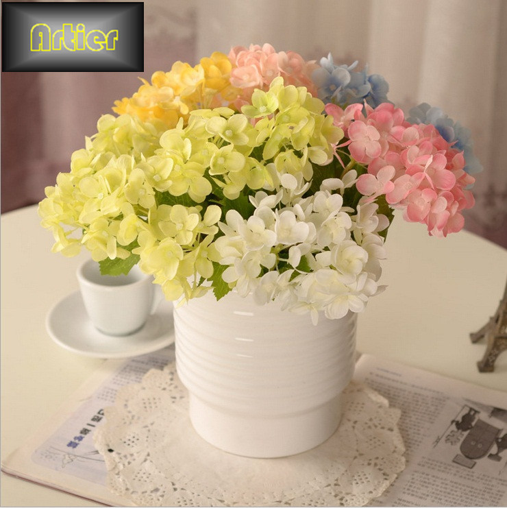Group 3 mini table holding hydrangea continental floral decoration simulation silk flower artificial flower AI0423(China (Mainland))