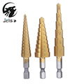 Jelbo Cone Step Drill Hole Tools Countersink 3PC Drill Bit Set Power Tools Step Drill Bit