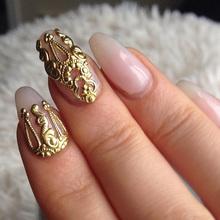 10 шт. золото и серебро 3D сплав ногтей украшения 3D сплава ногтей украшения ногтей красоты аксессуары(China (Mainland))