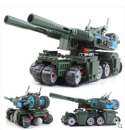 Military Building Block Set Compatible lego Apocalypse Tank 3D Construction Brick Educational Hobbies Toys Kids