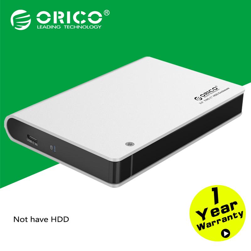 ORICO 2598C3 Aluminium 2.5 SATA3.0 USB3.0 HDD Enclosure Type-c Hard Disk Box [Support UASP & 9.5mm&12.5mm 2TB Hard Drive]-Silver(China (Mainland))