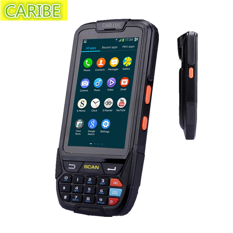 Caribe PL-40LAb025 IP65 rugged waterproof mini wireless portable terminal 1d barcode scaner with display(China (Mainland))