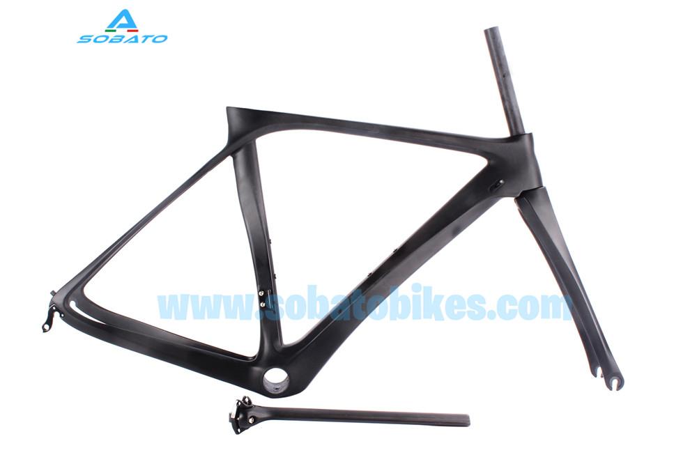 2016 New Aero Carbon Bicycle Frame BB386 DI2 Fiber Road Racing Bike Frame(China (Mainland))
