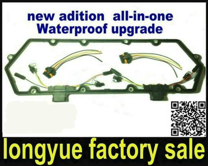 longyue Powerstroke Valve Cover Gasket w Fuel Injector VC Glow Plug Harness case for ford 7 7 3 powerstroke valve cover wiring harness 7 3 engine harness 7.3 IDI Engine Wiring Diagram at bayanpartner.co