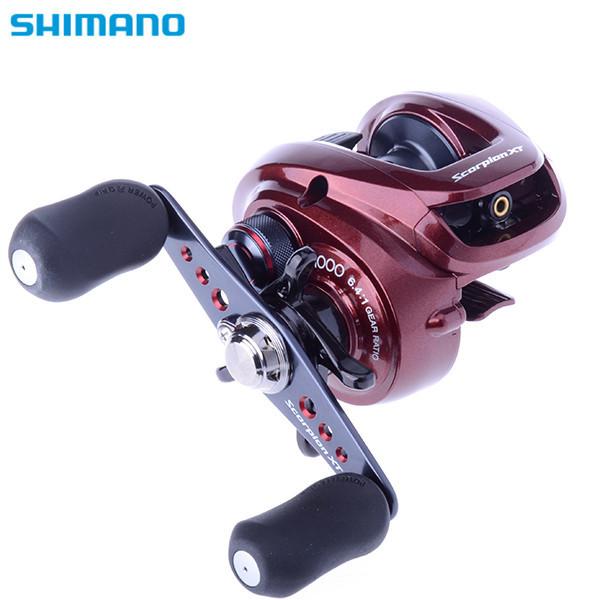 SHIMANO Brand low profile Reel Scorpion XT 5+1BB 6.4:1 baitcasting Fishing Reel Feeder Carp Fishing Wheel right/left(China (Mainland))