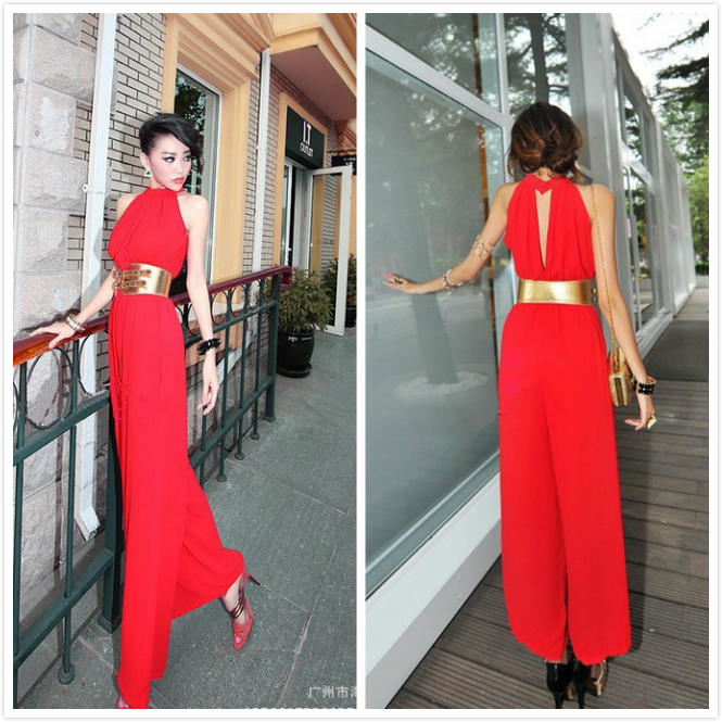 Designer Red Jumpsuit