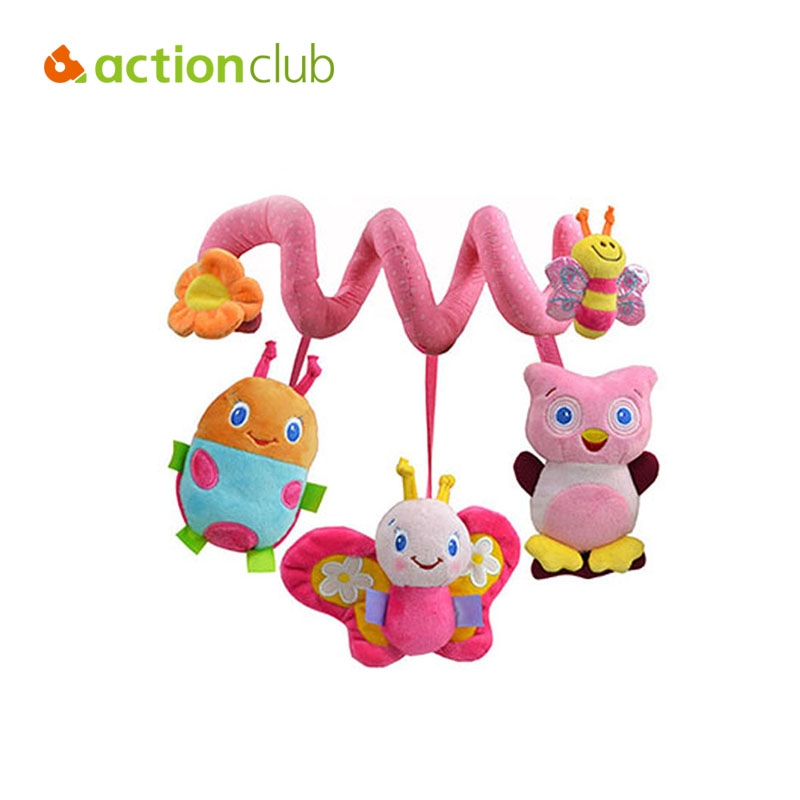 Actionclub 0-12 Months Baby Toy Educational Newborn Mobile Baby Rattles Musical Toys For Kids Infant Stroller Car Hanging(China (Mainland))