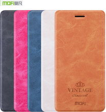 Buy Newest Ultra Thin Original Mofi Luxury Flip Leather Cover Case Meizu M5/M5S Stand Function & Gift for $7.99 in AliExpress store