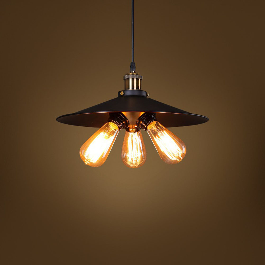 Фотография Village Retro Industrial Pendant Lamp Light Hanging Ceiling Lamp E27 Holder with 3 Head