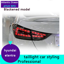 AUTO.PRO 2012-2015 For Hyundai elantra taillights car styling led tail lamps fog lights cover drl+signal+brake+reverse parking(China (Mainland))