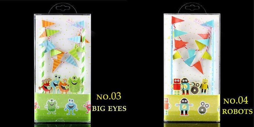 2016 Flags And Banners Happy Birthday Party Decorations Kids Baby Shower Paper Animal Party Bunting Flags Photo Booth Props