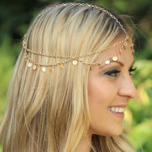 Tiara Bohemian Circle Roll Drop Head Chain
