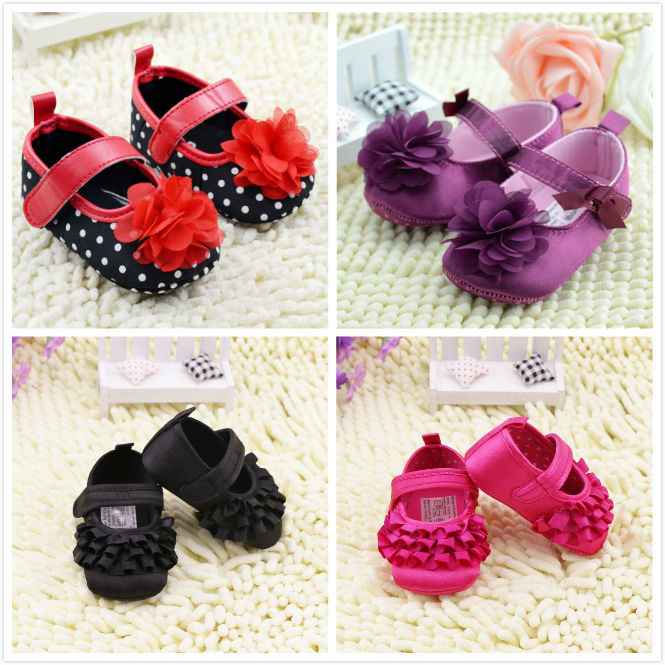 Wholesale 2015 New Fashion Baby Shoes Girls Cotton Soft Sole Skid-proof Cute Kids Toddler Shoes First Walkers Fit 0-12 Months(China (Mainland))