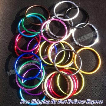 Free Shipping 3inch 100pcs/50pairs Top quality fashionable adjustable baby aluminum sling ring