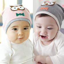New Baby Boys Girls Hat Cotton Blends Caps Newborn Infant Baby Hat Owl Print