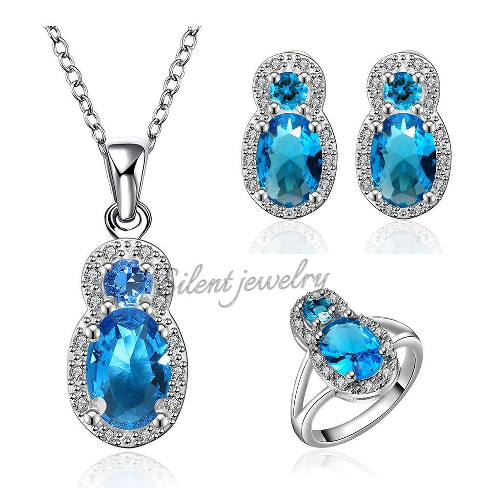 Free shipping high end shiny wedding bridal blue earrings for High end fashion jewelry