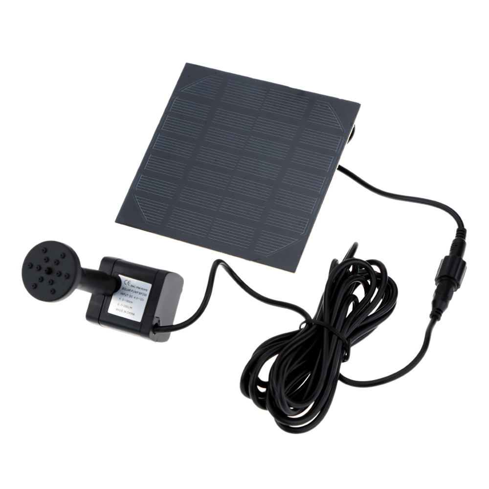 High Quality Monocrystalline Silicon Mini Solar Water Pump Power Panel Kit Fountain Pool Garden Pond Submersible Watering(China (Mainland))