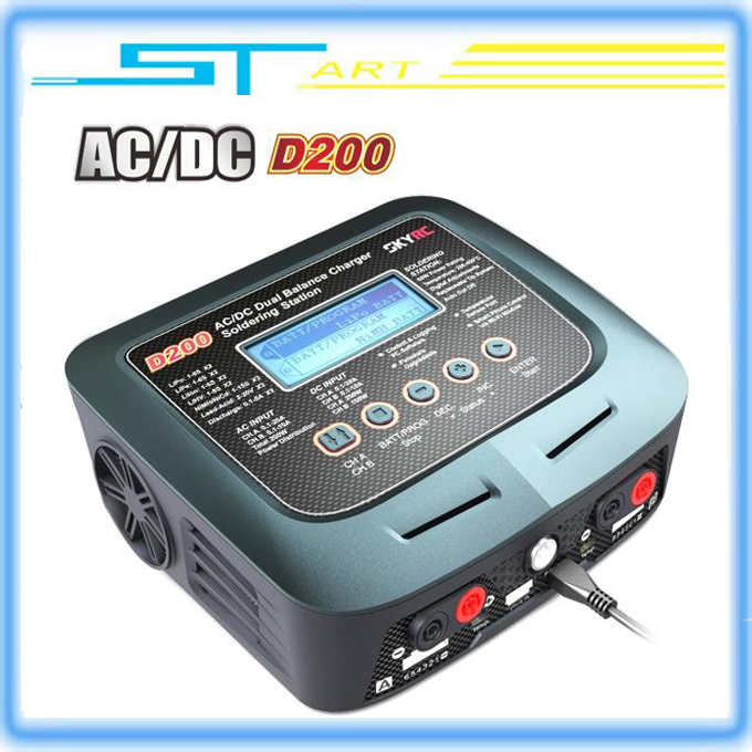 2Pcs SKYRC D200 Intelligent Twin-Channel Balance Charger LCD AC/DC Dual 20A 200W wifi contorl PK D100 Wholesale<br><br>Aliexpress