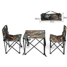 Прохладный сад 2 человек стол стул Iron Oxford Быстрая доставка зеленый утолщение складной рюкзак открытый кемпинг мебель комплект(China)