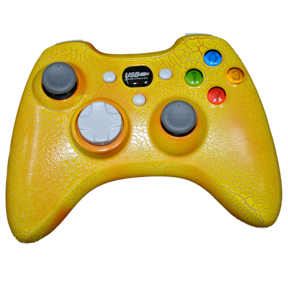 Fashion Gamepad for PC - Yellow USB Dual Vibration Motors Game Controller with Joystick Function Gamecube for Playstation 3(China (Mainland))