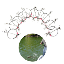 Buy 20PCS Fishing Connector Wire Trace Leader Rig 2 Arm Fishing Lure Bait Swivel Rings Stainless Steel Fishing Tackle Box Tool for $8.71 in AliExpress store