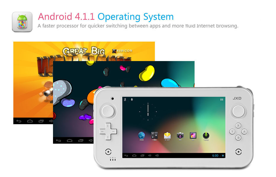 High quality,best price JXD S7300 7 Inch dual Core Smart game console two joystick Android 4.1 game console (S7300)(China (Mainland))