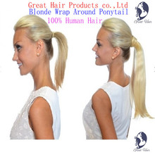 Great Hair 2016 year NEW product Christmas Additional Lengths Wrap Around Ponytail – 100% natural Humano Hair Free shipping