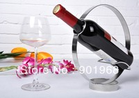 Hot sell 1 bottle table stainless steel red wine wine stand holder-4pcs/lot