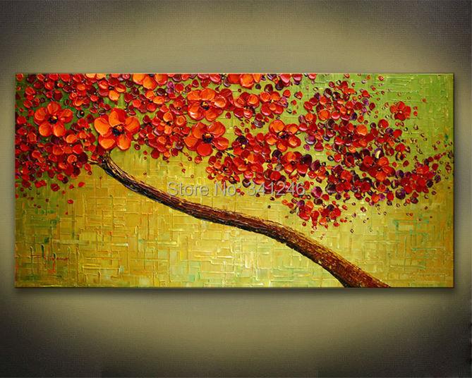 Red Cherry Blossom Wall Art - Elitflat