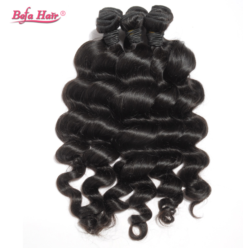 """6A Unprocessed Indian Loose Wave Virgin Hair 4pcs/lot Natural Black Loose Wave Indian Virgin Hair 12""""-30"""" Free Shipping(China (Mainland))"""
